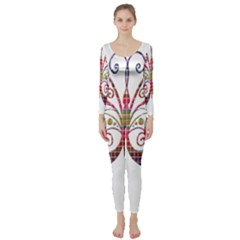 Butterfly Nature Abstract Beautiful Long Sleeve Catsuit