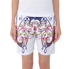 Butterfly Nature Abstract Beautiful Women s Basketball Shorts