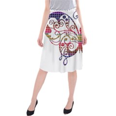 Butterfly Nature Abstract Beautiful Midi Beach Skirt