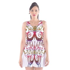 Butterfly Nature Abstract Beautiful Scoop Neck Skater Dress