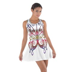 Butterfly Nature Abstract Beautiful Cotton Racerback Dress