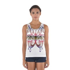 Butterfly Nature Abstract Beautiful Women s Sport Tank Top