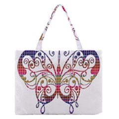 Butterfly Nature Abstract Beautiful Medium Zipper Tote Bag