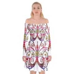 Butterfly Nature Abstract Beautiful Off Shoulder Skater Dress