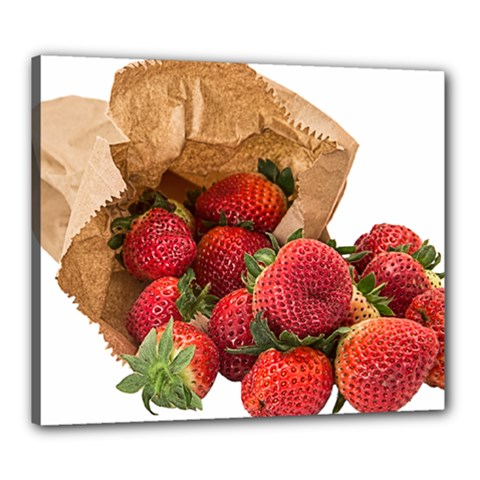 Strawberries Fruit Food Delicious Canvas 24  X 20