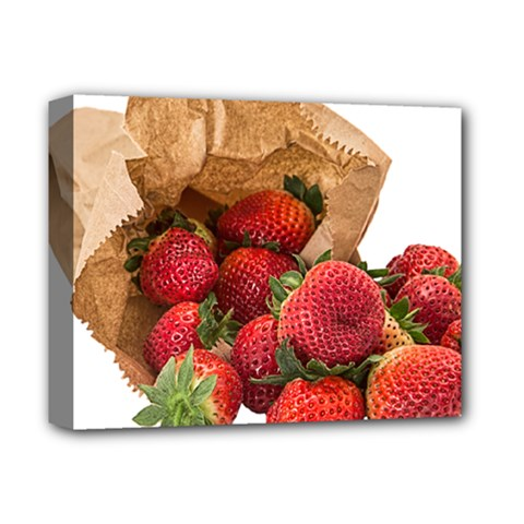 Strawberries Fruit Food Delicious Deluxe Canvas 14  x 11