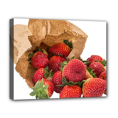 Strawberries Fruit Food Delicious Deluxe Canvas 20  X 16