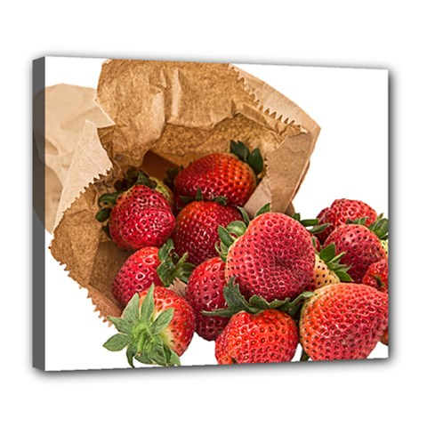 Strawberries Fruit Food Delicious Deluxe Canvas 24  x 20