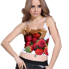 Strawberries Fruit Food Delicious Spaghetti Strap Bra Top