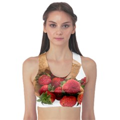 Strawberries Fruit Food Delicious Sports Bra