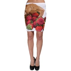 Strawberries Fruit Food Delicious Bodycon Skirt