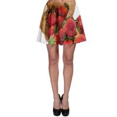 Strawberries Fruit Food Delicious Skater Skirt