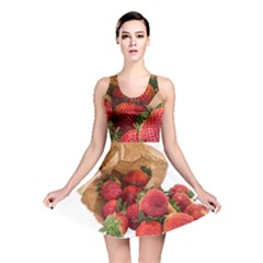 Strawberries Fruit Food Delicious Reversible Skater Dress