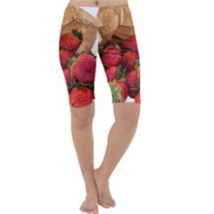 Strawberries Fruit Food Delicious Cropped Leggings