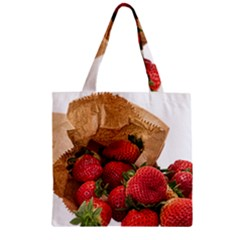 Strawberries Fruit Food Delicious Zipper Grocery Tote Bag