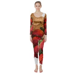 Strawberries Fruit Food Delicious Long Sleeve Catsuit