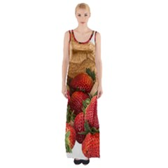 Strawberries Fruit Food Delicious Maxi Thigh Split Dress