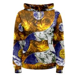 Design Yin Yang Balance Sun Earth Women s Pullover Hoodie