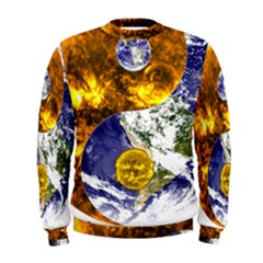 Design Yin Yang Balance Sun Earth Men s Sweatshirt