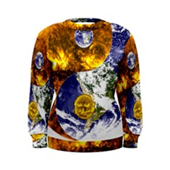 Design Yin Yang Balance Sun Earth Women s Sweatshirt