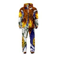 Design Yin Yang Balance Sun Earth Hooded Jumpsuit (kids)