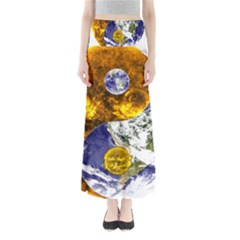 Design Yin Yang Balance Sun Earth Maxi Skirts