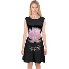Namaste   Lotus Capsleeve Midi Dress