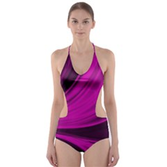 Colors Cut Out One Piece Swimsuit