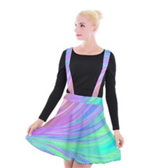 Colors Suspender Skater Skirt