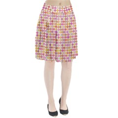 Multicolored Floral Pattern Pleated Skirt