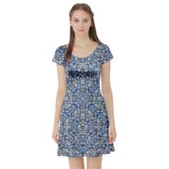 Geometric Luxury Ornate Short Sleeve Skater Dress