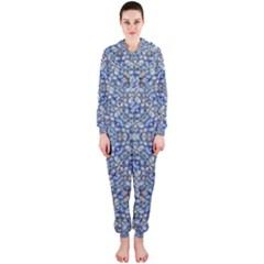 Geometric Luxury Ornate Hooded Jumpsuit (Ladies)