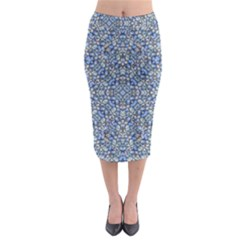 Geometric Luxury Ornate Midi Pencil Skirt