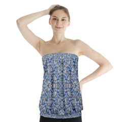 Geometric Luxury Ornate Strapless Top