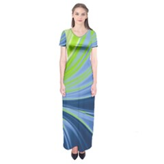 Colors Short Sleeve Maxi Dress