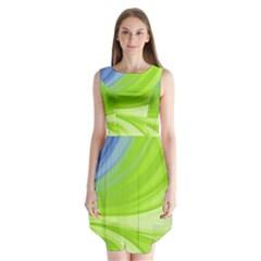 Colors Sleeveless Chiffon Dress