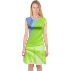 Colors Capsleeve Midi Dress