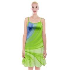 Colors Spaghetti Strap Velvet Dress