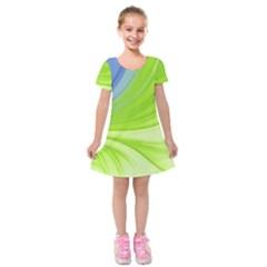 Colors Kids  Short Sleeve Velvet Dress