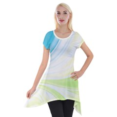 Colors Short Sleeve Side Drop Tunic