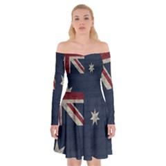 Vintage Australian Flag Off Shoulder Skater Dress