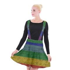 Vintage Flag   Pride Suspender Skater Skirt