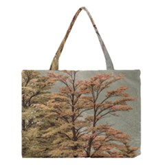 Landscape Scene Colored Trees At Glacier Lake  Patagonia Argentina Medium Tote Bag
