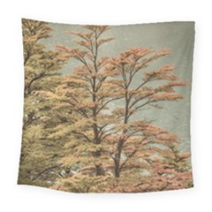 Landscape Scene Colored Trees At Glacier Lake  Patagonia Argentina Square Tapestry (large)