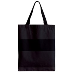 Gray And Black Thick Stripes Classic Tote Bag