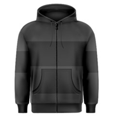 Gray And Black Thick Stripes Men s Zipper Hoodie