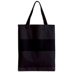 Gray And Black Thick Stripes Zipper Classic Tote Bag