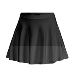 Gray And Black Thick Stripes Mini Flare Skirt