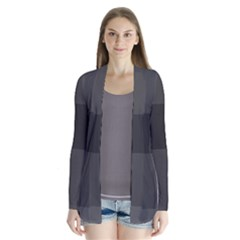 Gray And Black Thick Stripes Cardigans