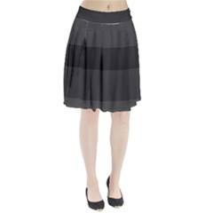 Gray And Black Thick Stripes Pleated Skirt
